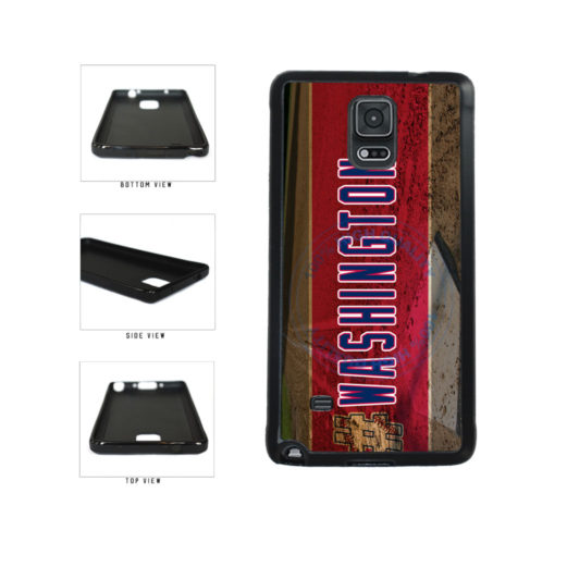 Hashtag Washington #Washington Baseball Team  TPU Rubber SILICONE Phone Case Back Cover For Samsung Galaxy Note IV 4 N910 includes BleuReign(TM) Cloth and Warranty Label