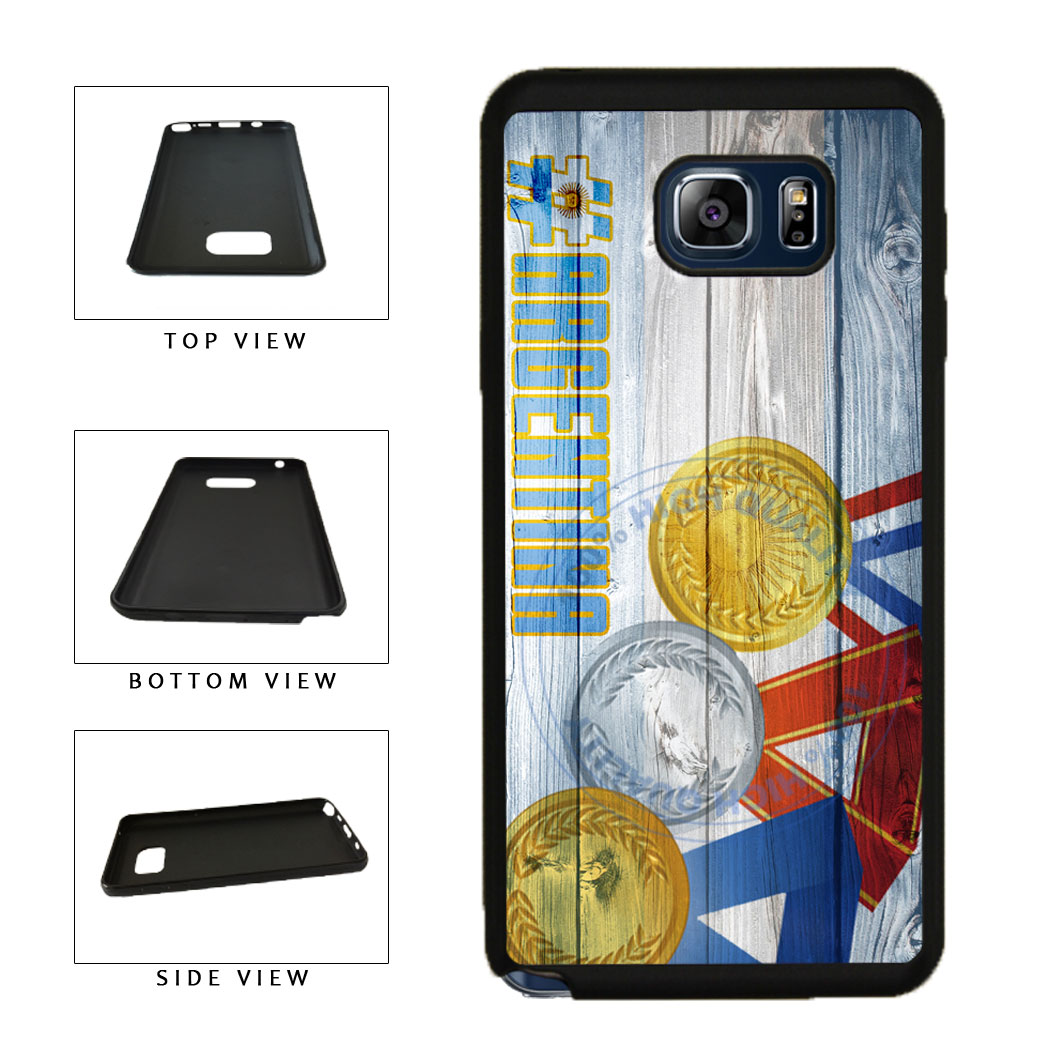 Sport Games Hashtag Team Argentina #Argentina TPU RUBBER SILICONE Phone Case Back Cover For Samsung Galaxy Note V 5 N920 includes BleuReign(TM) Cloth and Warranty Label