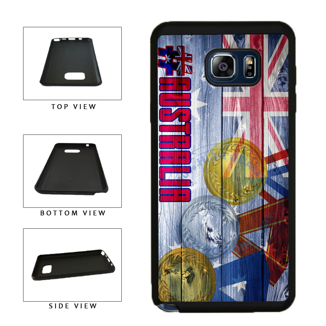 Sport Games Hashtag Team Australia #Australia TPU RUBBER SILICONE Phone Case Back Cover For Samsung Galaxy Note V 5 N920 includes BleuReign(TM) Cloth and Warranty Label