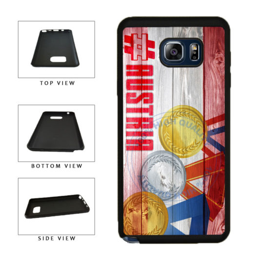 Sport Games Hashtag Team Austria #Austria TPU RUBBER SILICONE Phone Case Back Cover For Samsung Galaxy Note V 5 N920 includes BleuReign(TM) Cloth and Warranty Label