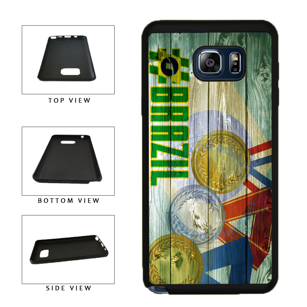 Sport Games Hashtag Team Brazil #Brazil TPU RUBBER SILICONE Phone Case Back Cover For Samsung Galaxy Note V 5 N920 includes BleuReign(TM) Cloth and Warranty Label