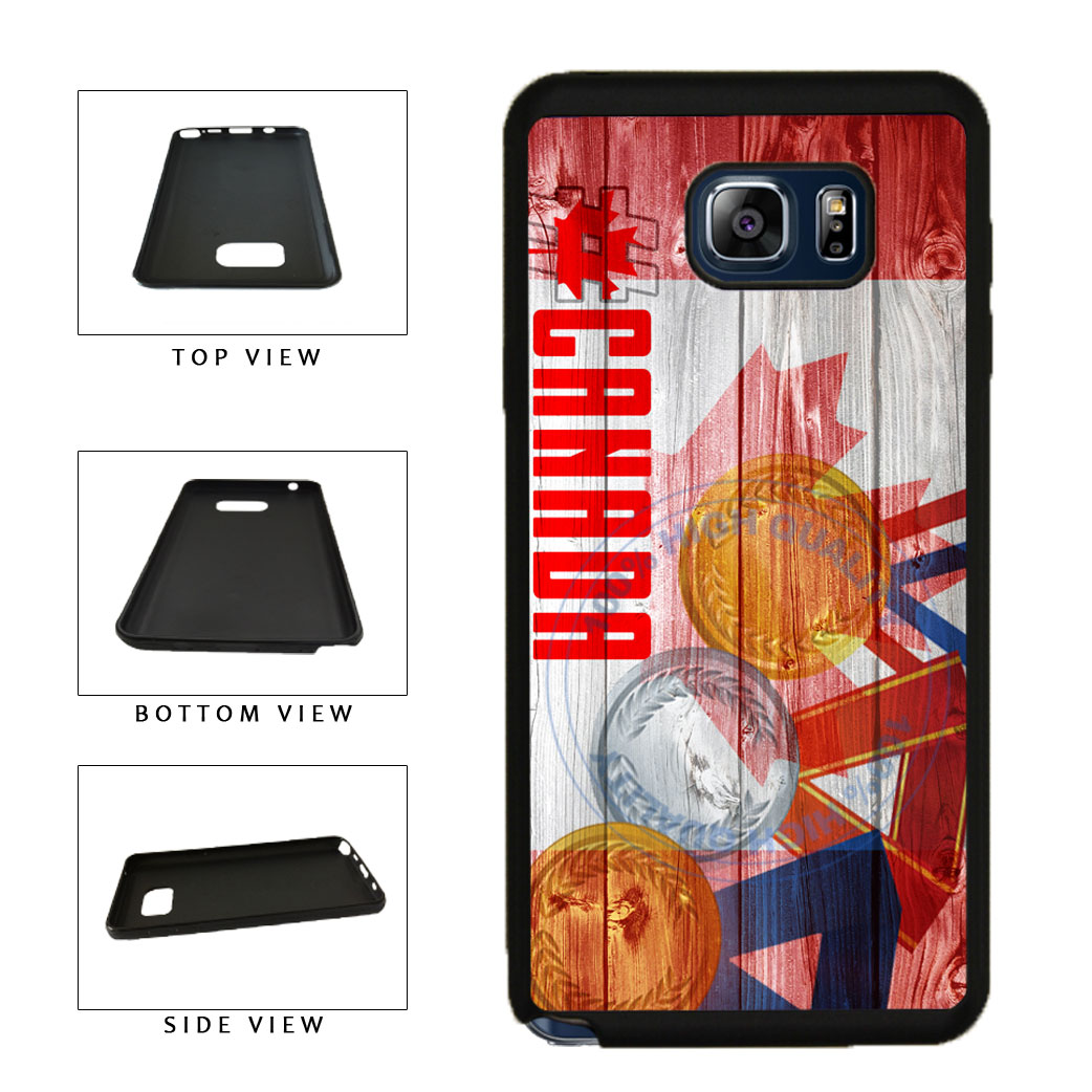 Sport Games Hashtag Team Canada #Canada TPU RUBBER SILICONE Phone Case Back Cover For Samsung Galaxy Note V 5 N920 includes BleuReign(TM) Cloth and Warranty Label