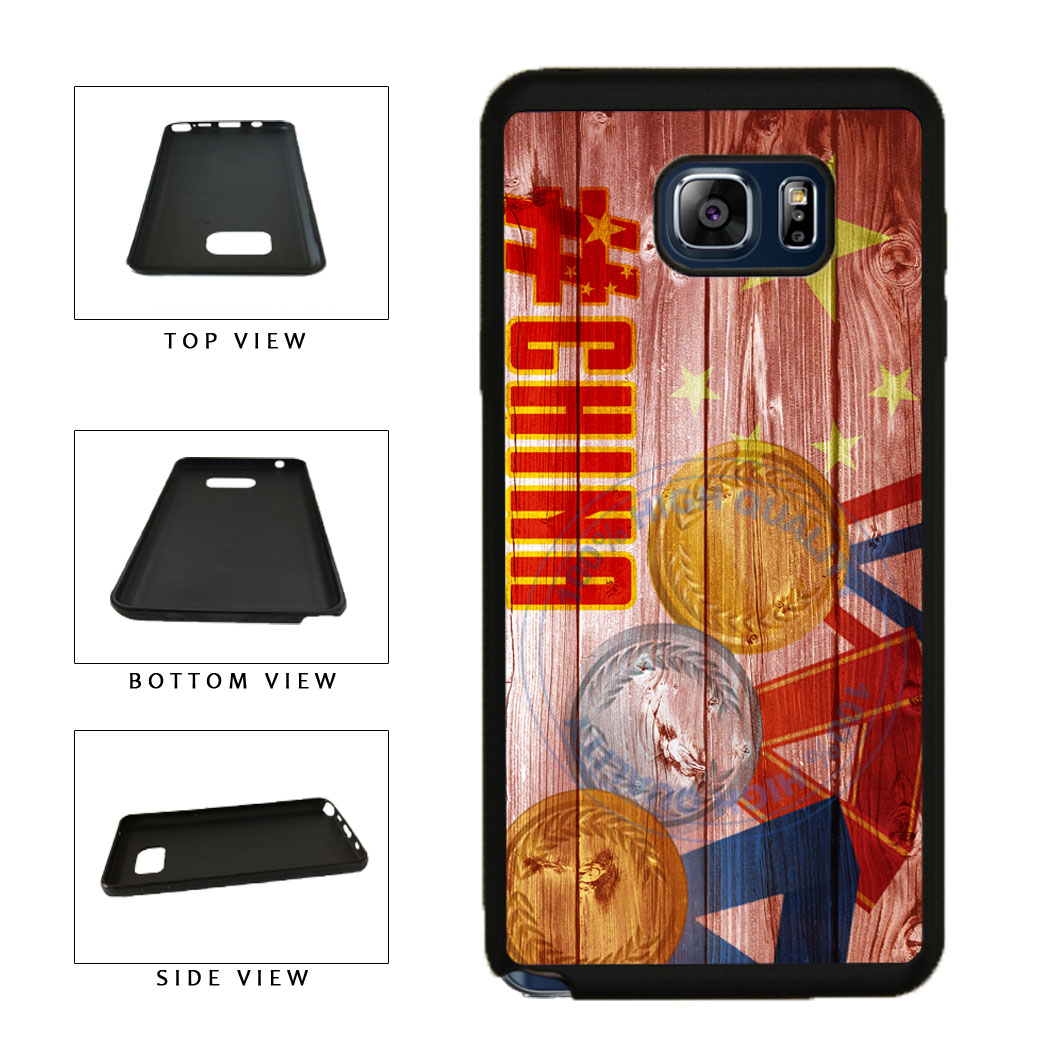 Sport Games Hashtag Team China #China TPU RUBBER SILICONE Phone Case Back Cover For Samsung Galaxy Note V 5 N920 includes BleuReign(TM) Cloth and Warranty Label
