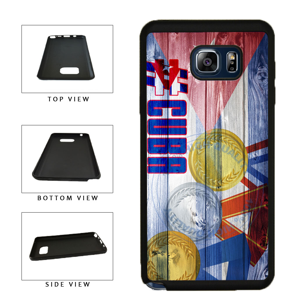Sport Games Hashtag Team Cuba #Cuba TPU RUBBER SILICONE Phone Case Back Cover For Samsung Galaxy Note V 5 N920 includes BleuReign(TM) Cloth and Warranty Label