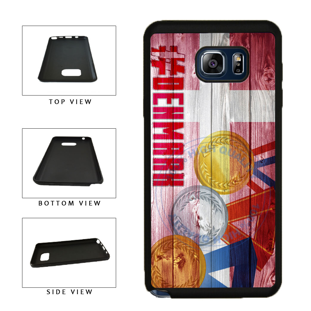 Sport Games Hashtag Team Denmark #Denmark TPU RUBBER SILICONE Phone Case Back Cover For Samsung Galaxy Note V 5 N920 includes BleuReign(TM) Cloth and Warranty Label