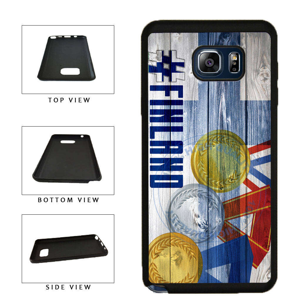 Sport Games Hashtag Team Finland #Finland TPU RUBBER SILICONE Phone Case Back Cover For Samsung Galaxy Note V 5 N920 includes BleuReign(TM) Cloth and Warranty Label