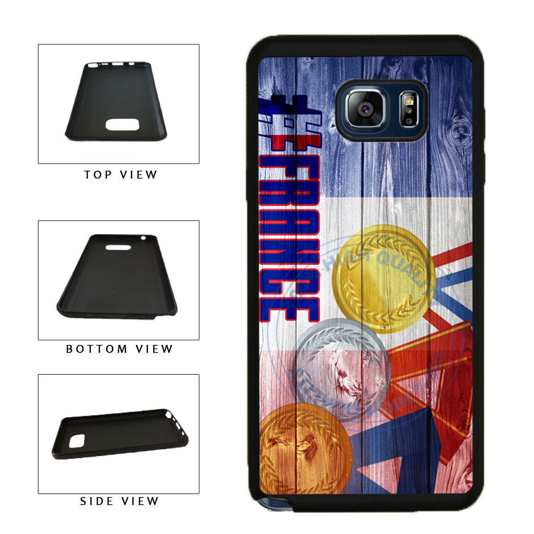 Sport Games Hashtag Team France #France TPU RUBBER SILICONE Phone Case Back Cover For Samsung Galaxy Note V 5 N920 includes BleuReign(TM) Cloth and Warranty Label