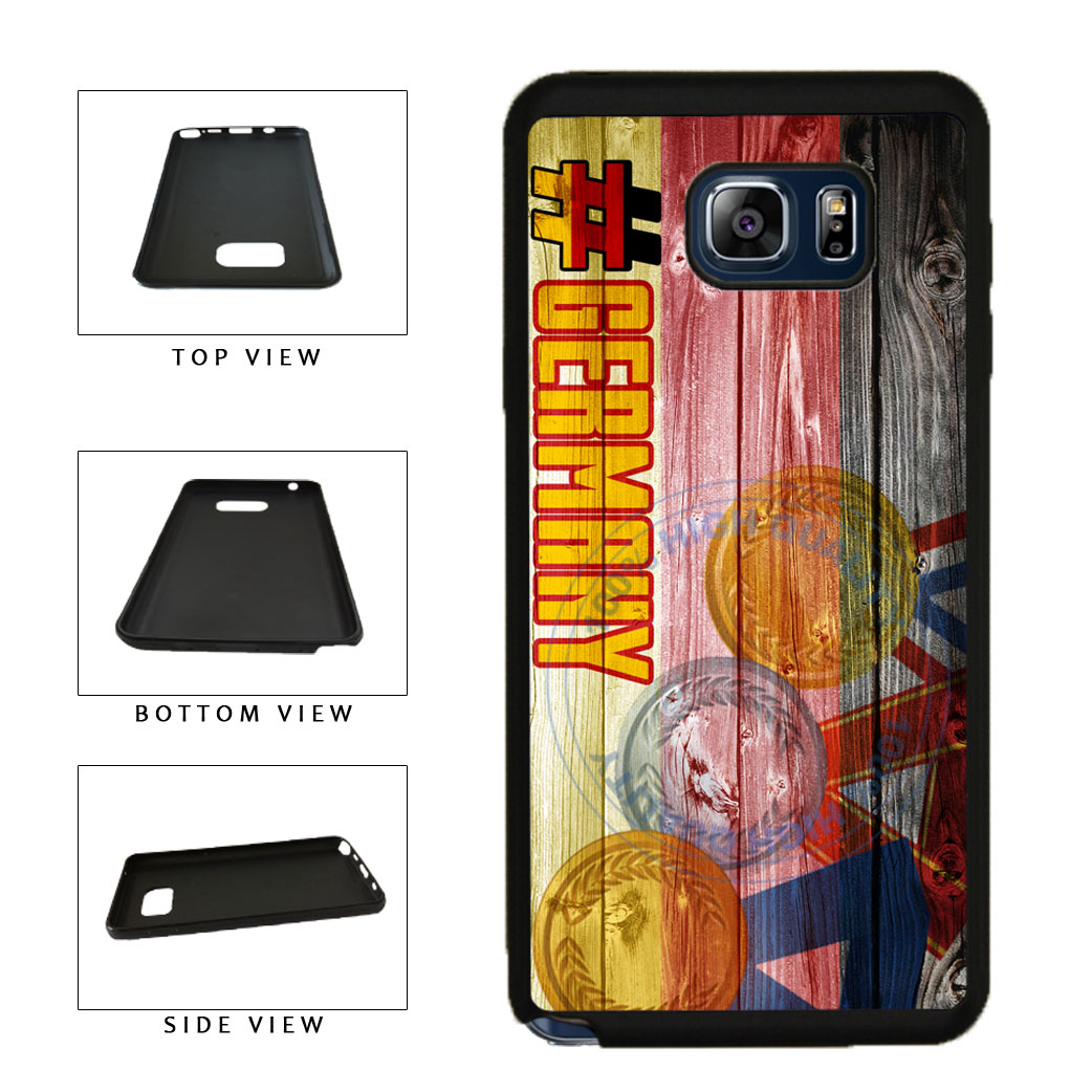 Sport Games Hashtag Team Germany #Germany TPU RUBBER SILICONE Phone Case Back Cover For Samsung Galaxy Note V 5 N920 includes BleuReign(TM) Cloth and Warranty Label