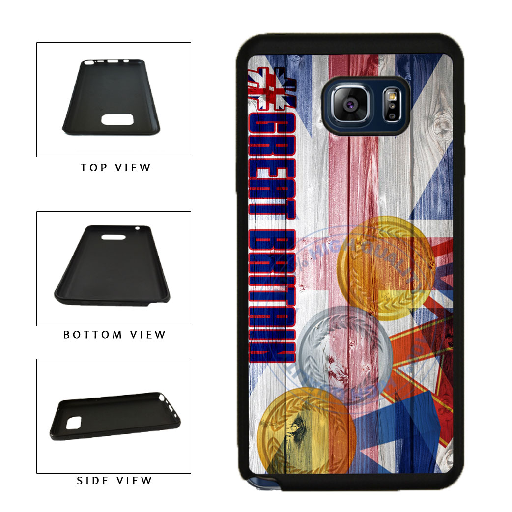Sport Games Hashtag Team Great Britain #GreatBritain TPU RUBBER SILICONE Phone Case Back Cover For Samsung Galaxy Note V 5 N920 includes BleuReign(TM) Cloth and Warranty Label