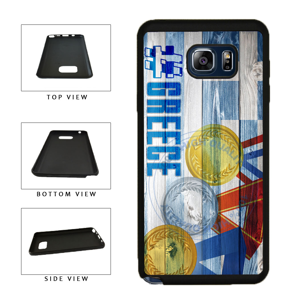 Sport Games Hashtag Team Greece #Greece TPU RUBBER SILICONE Phone Case Back Cover For Samsung Galaxy Note V 5 N920 includes BleuReign(TM) Cloth and Warranty Label