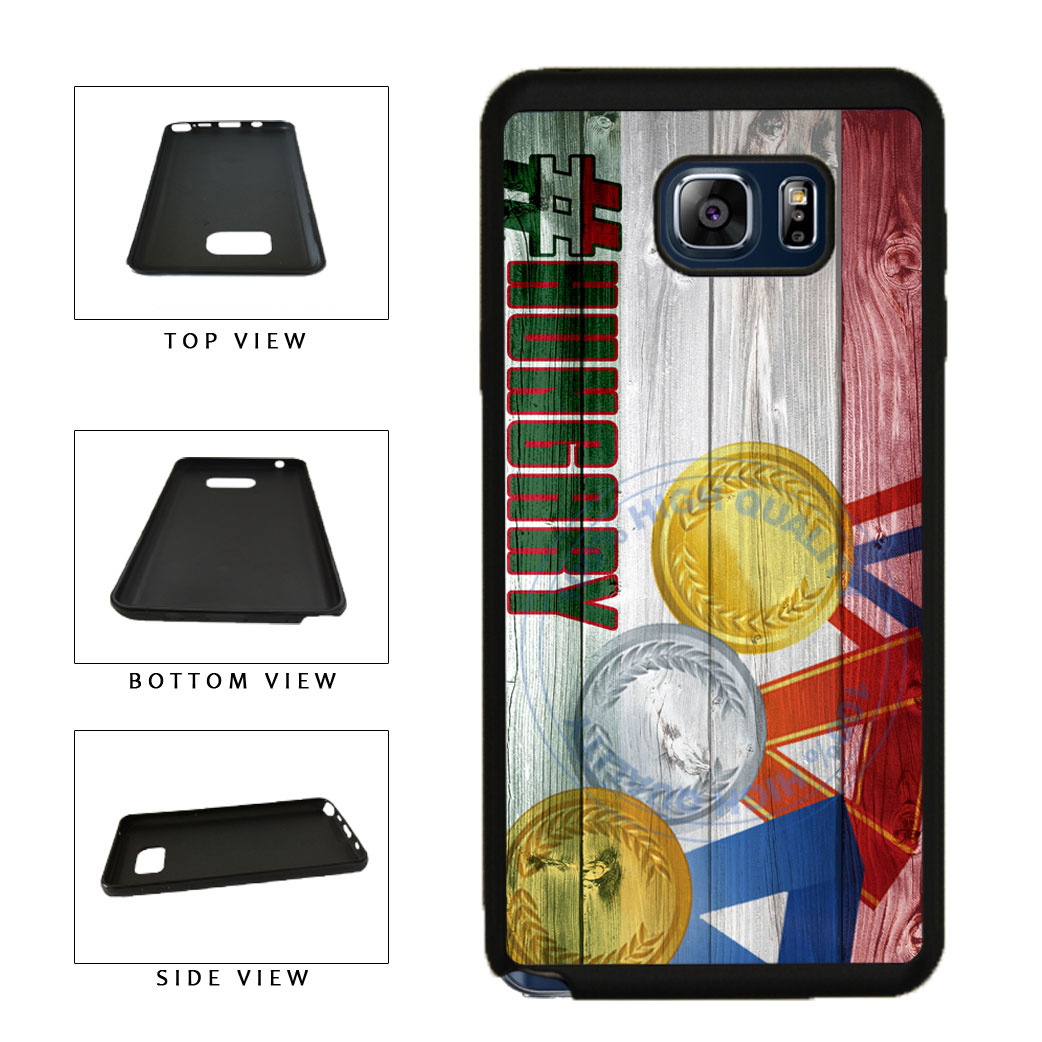 Sport Games Hashtag Team Hungary #Hungary TPU RUBBER SILICONE Phone Case Back Cover For Samsung Galaxy Note V 5 N920 includes BleuReign(TM) Cloth and Warranty Label