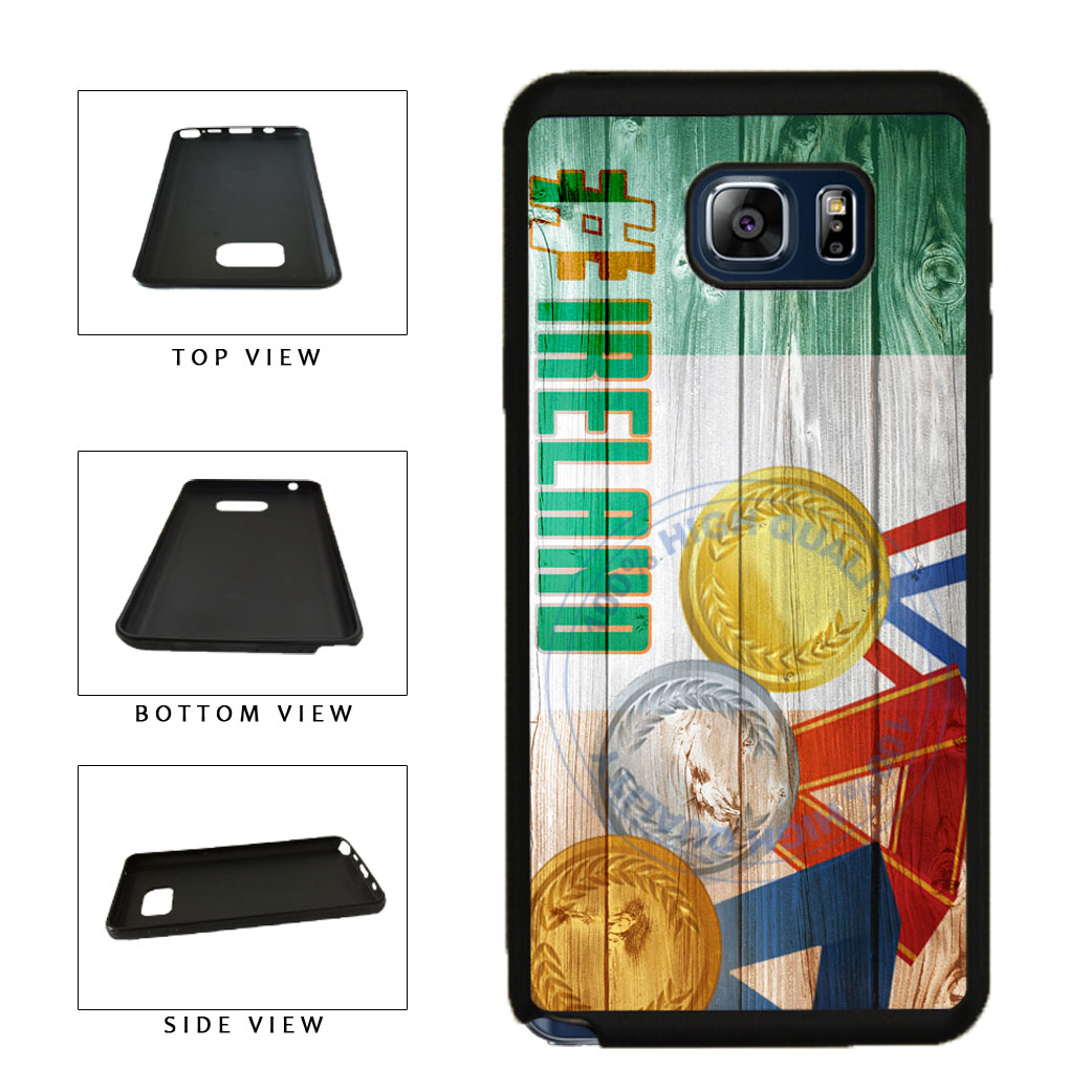 Sport Games Hashtag Team Ireland #Ireland TPU RUBBER SILICONE Phone Case Back Cover For Samsung Galaxy Note V 5 N920 includes BleuReign(TM) Cloth and Warranty Label