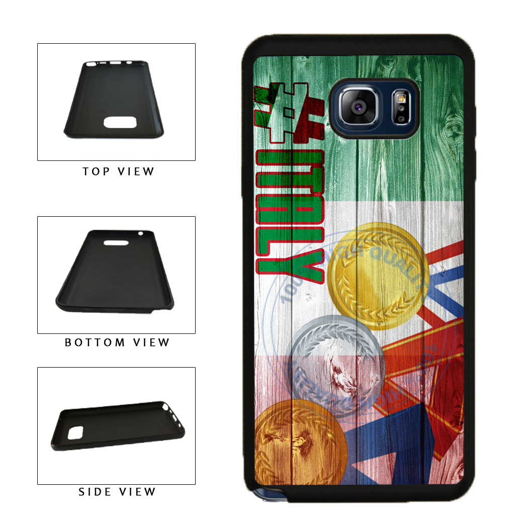 Sport Games Hashtag Team Italy #Italy TPU RUBBER SILICONE Phone Case Back Cover For Samsung Galaxy Note V 5 N920 includes BleuReign(TM) Cloth and Warranty Label