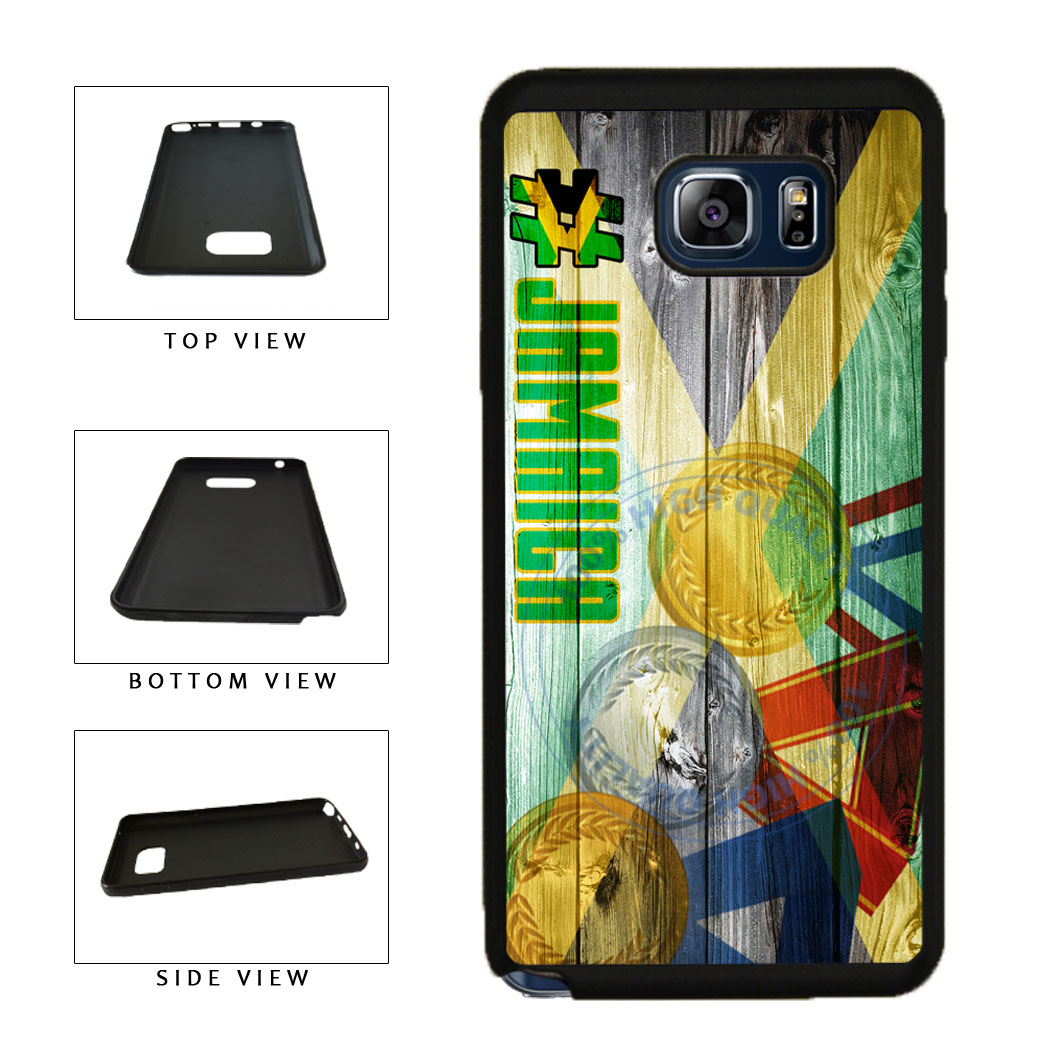 Sport Games Hashtag Team Jamaica #Jamacia TPU RUBBER SILICONE Phone Case Back Cover For Samsung Galaxy Note V 5 N920 includes BleuReign(TM) Cloth and Warranty Label