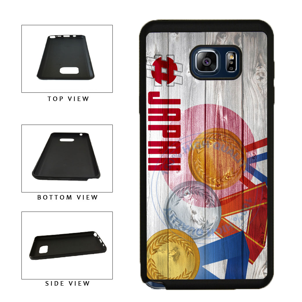 Sport Games Hashtag Team Japan #Japan TPU RUBBER SILICONE Phone Case Back Cover For Samsung Galaxy Note V 5 N920 includes BleuReign(TM) Cloth and Warranty Label