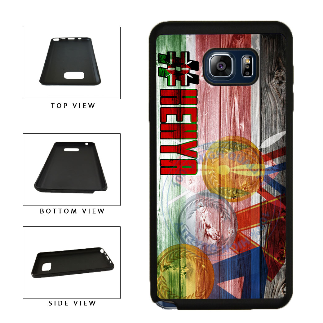 Sport Games Hashtag Team Kenya #Kenya TPU RUBBER SILICONE Phone Case Back Cover For Samsung Galaxy Note V 5 N920 includes BleuReign(TM) Cloth and Warranty Label