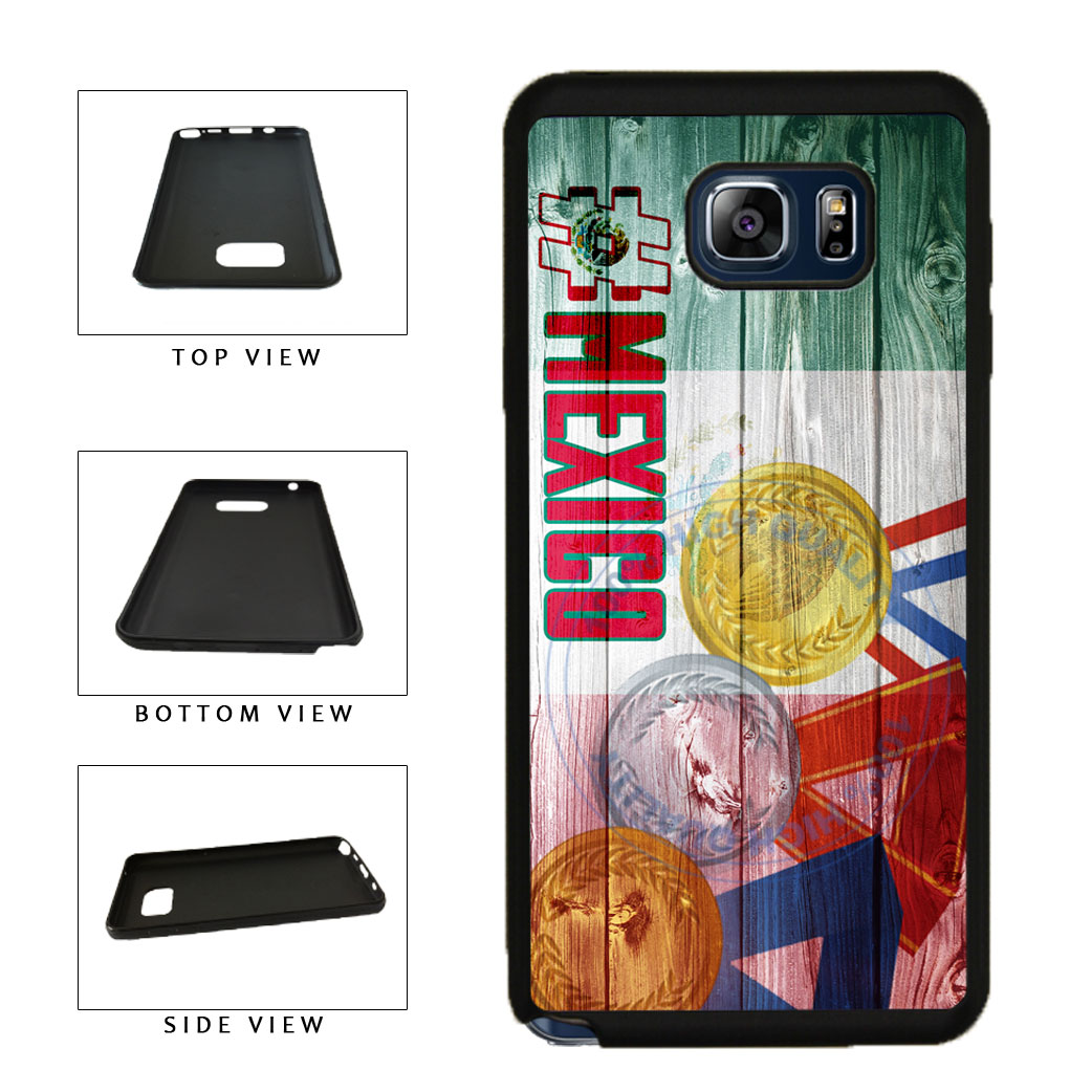 Sport Games Hashtag Team Mexico #Mexico TPU RUBBER SILICONE Phone Case Back Cover For Samsung Galaxy Note V 5 N920 includes BleuReign(TM) Cloth and Warranty Label