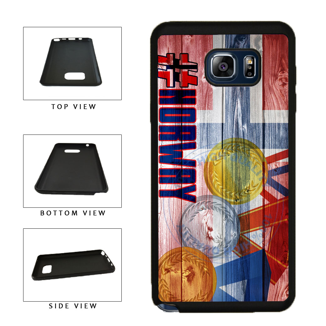 Sport Games Hashtag Team Norway #Norway TPU RUBBER SILICONE Phone Case Back Cover For Samsung Galaxy Note V 5 N920 includes BleuReign(TM) Cloth and Warranty Label