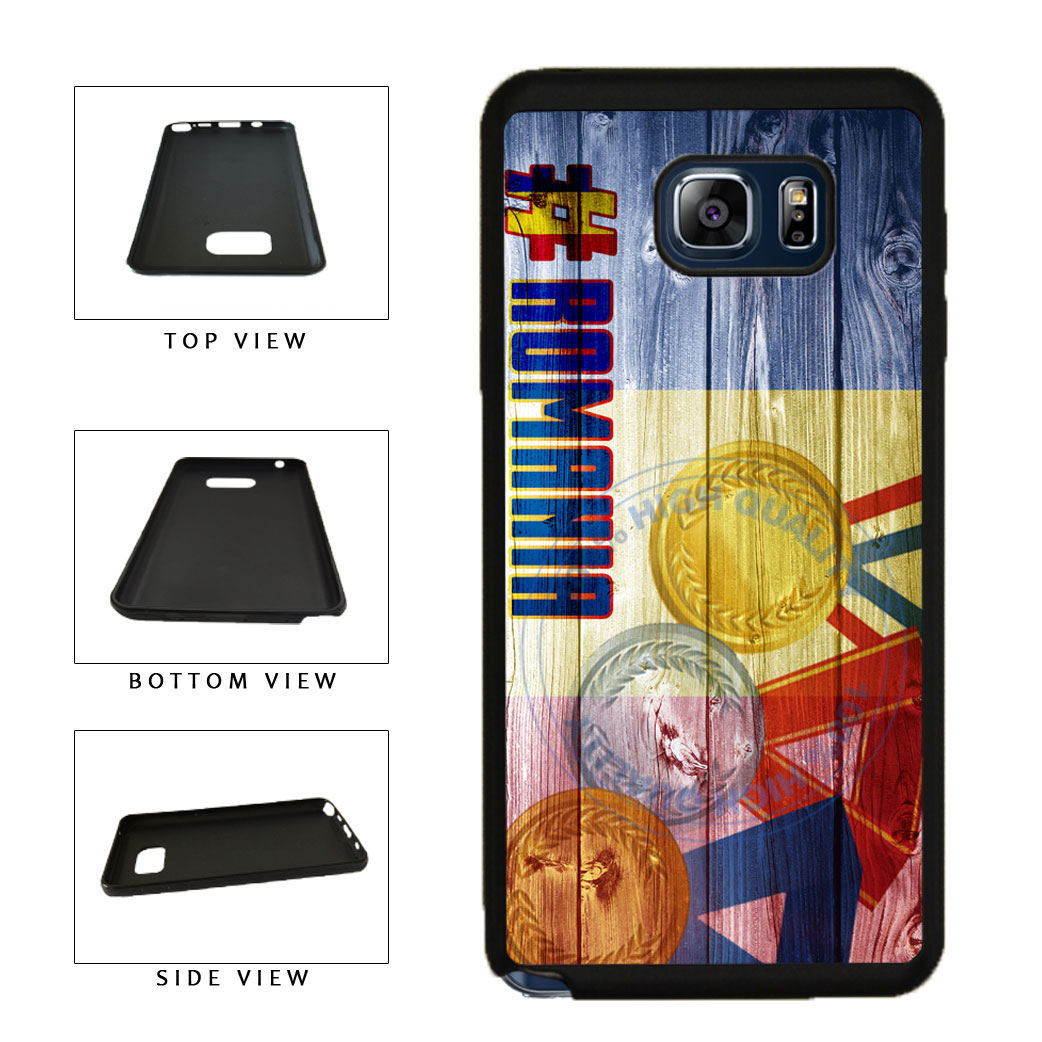 Sport Games Hashtag Team Romania #Romania TPU RUBBER SILICONE Phone Case Back Cover For Samsung Galaxy Note V 5 N920 includes BleuReign(TM) Cloth and Warranty Label