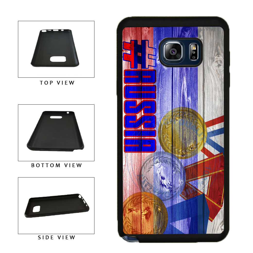 Sport Games Hashtag Team Russia #Russia TPU RUBBER SILICONE Phone Case Back Cover For Samsung Galaxy Note V 5 N920 includes BleuReign(TM) Cloth and Warranty Label