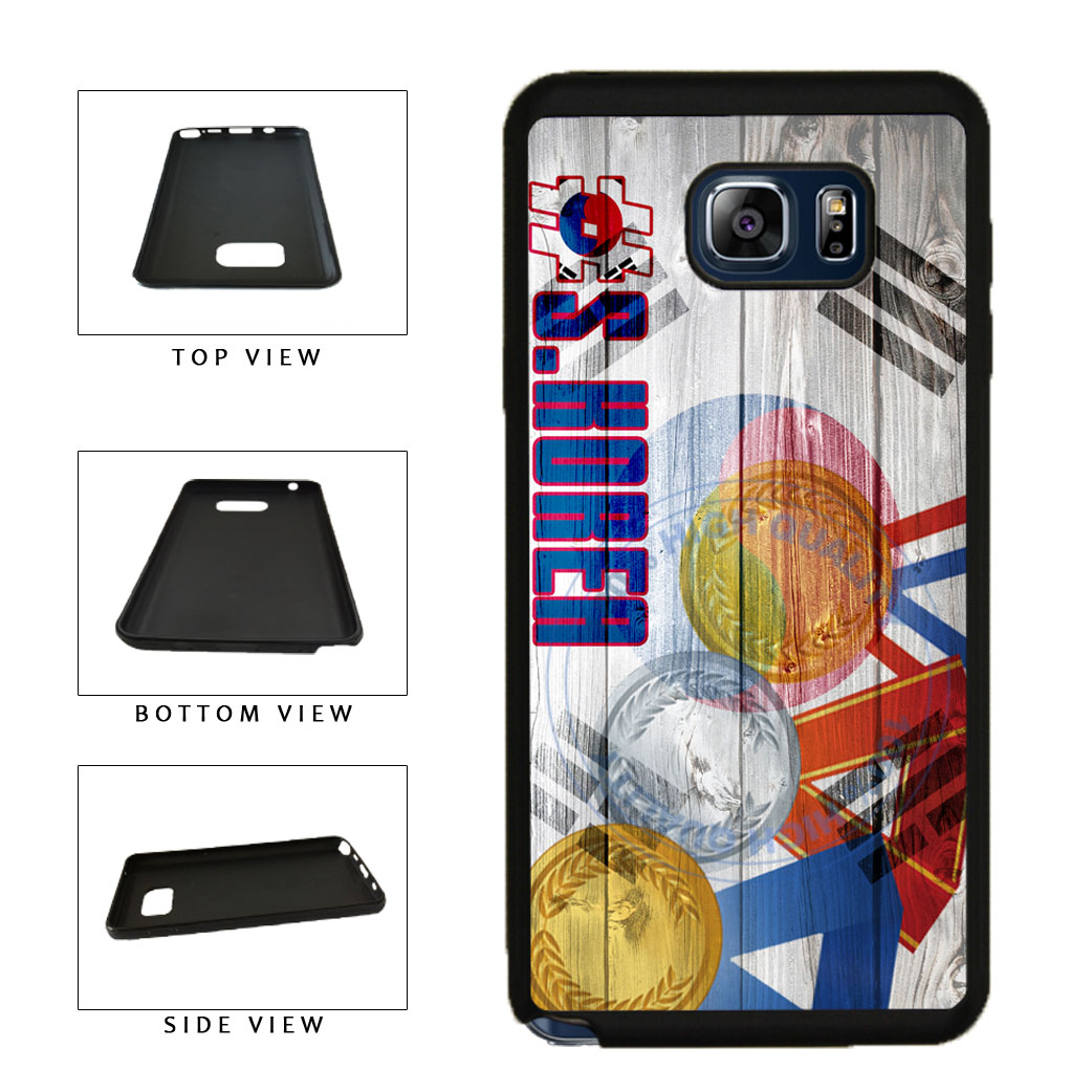 Sport Games Hashtag Team South Korea #SouthKorea TPU RUBBER SILICONE Phone Case Back Cover For Samsung Galaxy Note V 5 N920 includes BleuReign(TM) Cloth and Warranty Label