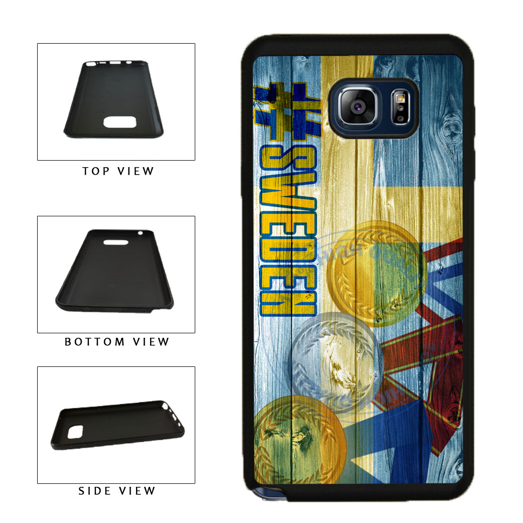Sport Games Hashtag Team Sweden #Sweden TPU RUBBER SILICONE Phone Case Back Cover For Samsung Galaxy Note V 5 N920 includes BleuReign(TM) Cloth and Warranty Label