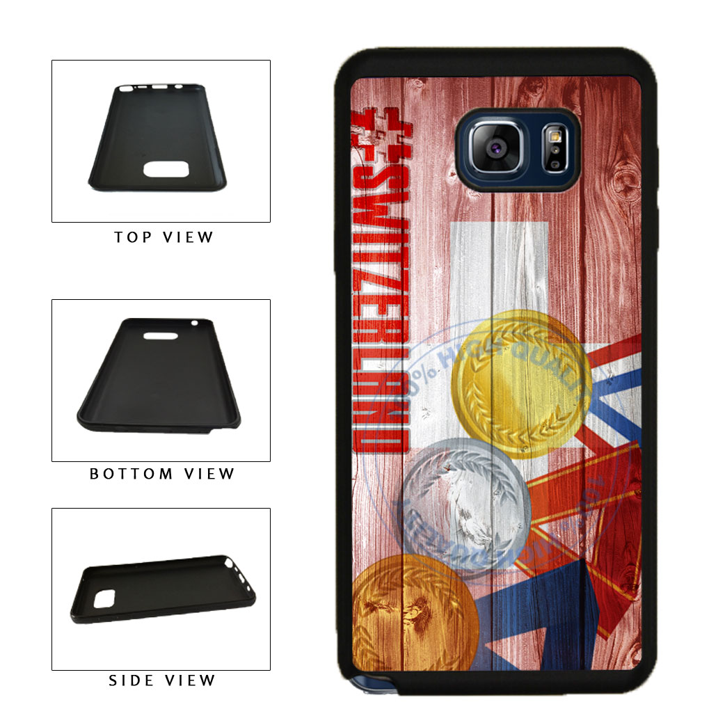 Sport Games Hashtag Team Switzerland #Switzerland TPU RUBBER SILICONE Phone Case Back Cover For Samsung Galaxy Note V 5 N920 includes BleuReign(TM) Cloth and Warranty Label