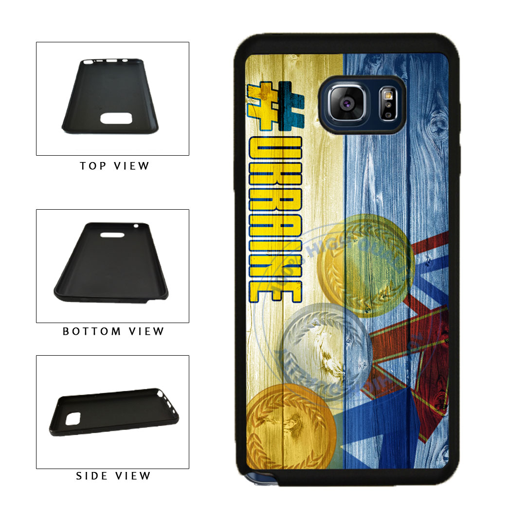 Sport Games Hashtag Team Ukraine #Ukraine TPU RUBBER SILICONE Phone Case Back Cover For Samsung Galaxy Note V 5 N920 includes BleuReign(TM) Cloth and Warranty Label