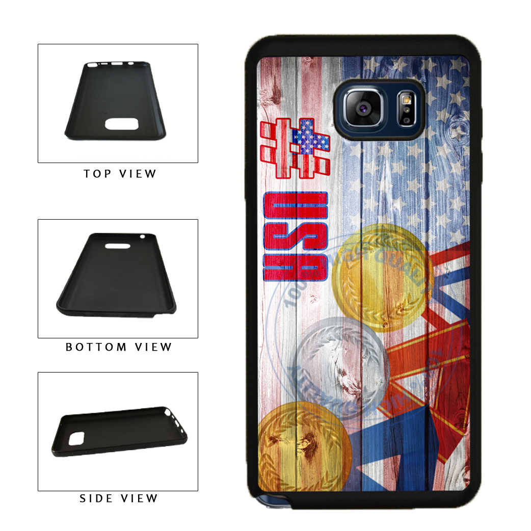 Sport Games Hashtag Team USA #USA TPU RUBBER SILICONE Phone Case Back Cover For Samsung Galaxy Note V 5 N920 includes BleuReign(TM) Cloth and Warranty Label