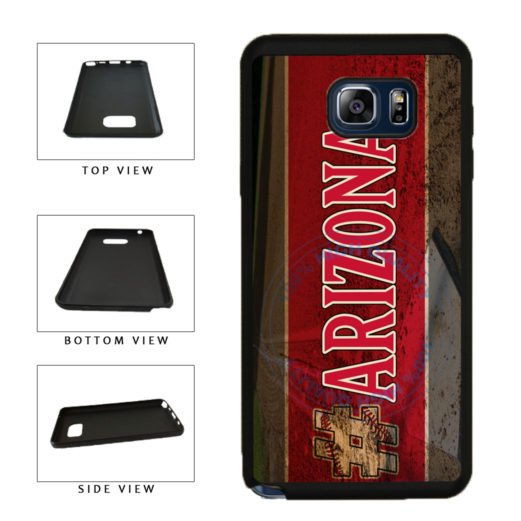 Hashtag Arizona #Arizona Baseball Team  TPU RUBBER SILICONE Phone Case Back Cover For Samsung Galaxy Note V 5 N920 includes BleuReign(TM) Cloth and Warranty Label