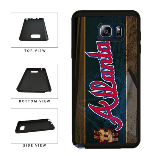 Hashtag Atlanta #Atlanta Baseball Team  TPU RUBBER SILICONE Phone Case Back Cover For Samsung Galaxy Note V 5 N920 includes BleuReign(TM) Cloth and Warranty Label