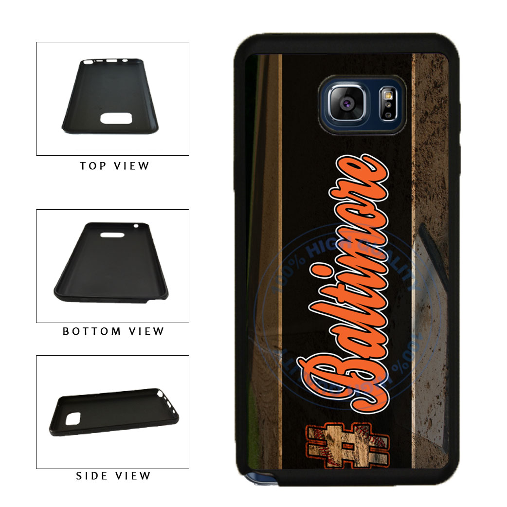 Hashtag Baltimore #Baltimore Baseball Team  TPU RUBBER SILICONE Phone Case Back Cover For Samsung Galaxy Note V 5 N920 includes BleuReign(TM) Cloth and Warranty Label