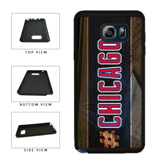 Hashtag Chicago #Chicago Blue and Red Baseball Team  TPU RUBBER SILICONE Phone Case Back Cover For Samsung Galaxy Note V 5 N920 includes BleuReign(TM) Cloth and Warranty Label