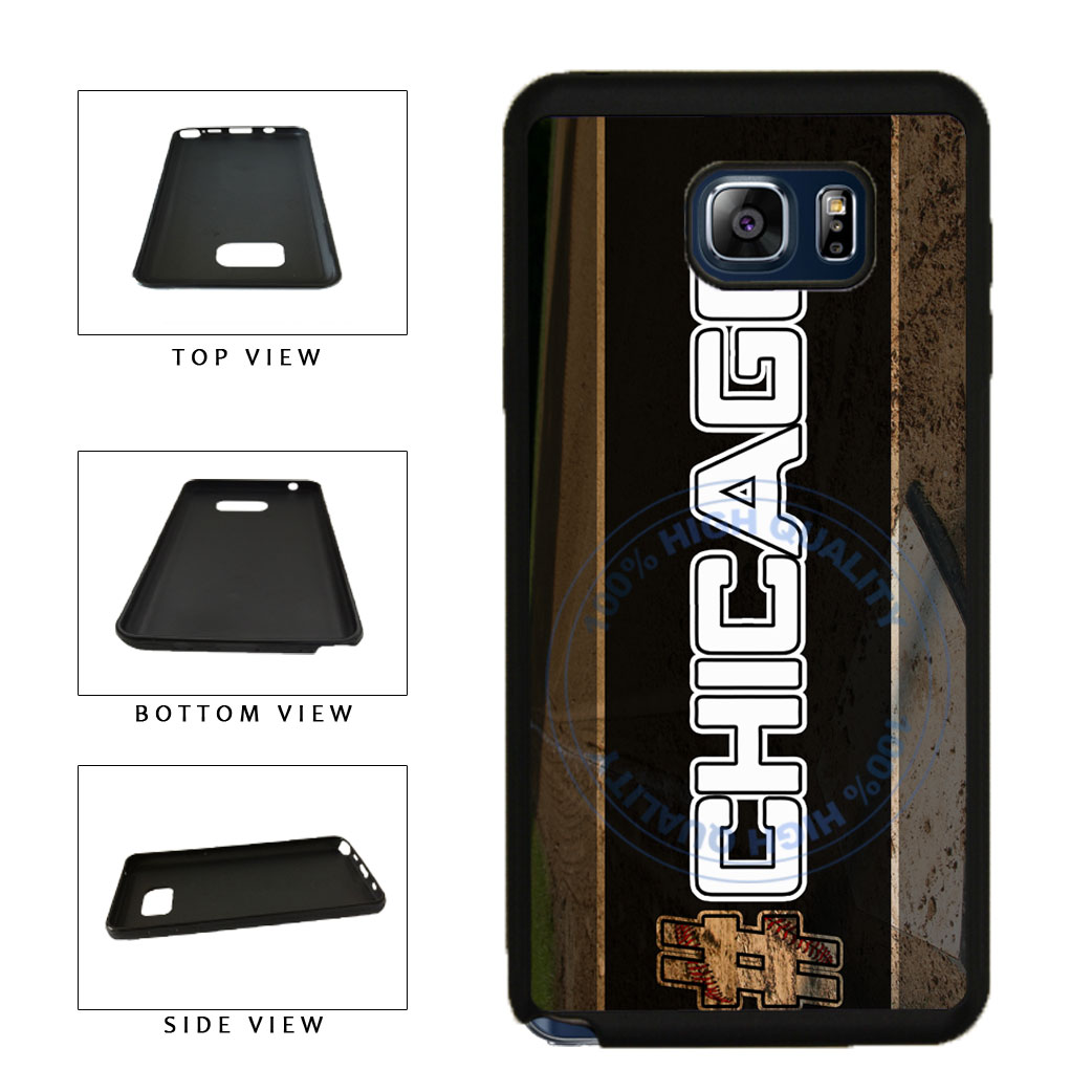 Hashtag Chicago #Chicago White Baseball Team  TPU RUBBER SILICONE Phone Case Back Cover For Samsung Galaxy Note V 5 N920 includes BleuReign(TM) Cloth and Warranty Label