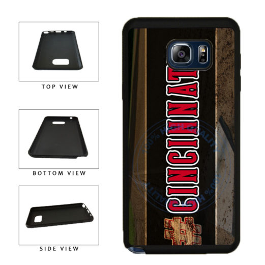 Hashtag Cincinnati #Cincinnati Baseball Team  TPU RUBBER SILICONE Phone Case Back Cover For Samsung Galaxy Note V 5 N920 includes BleuReign(TM) Cloth and Warranty Label