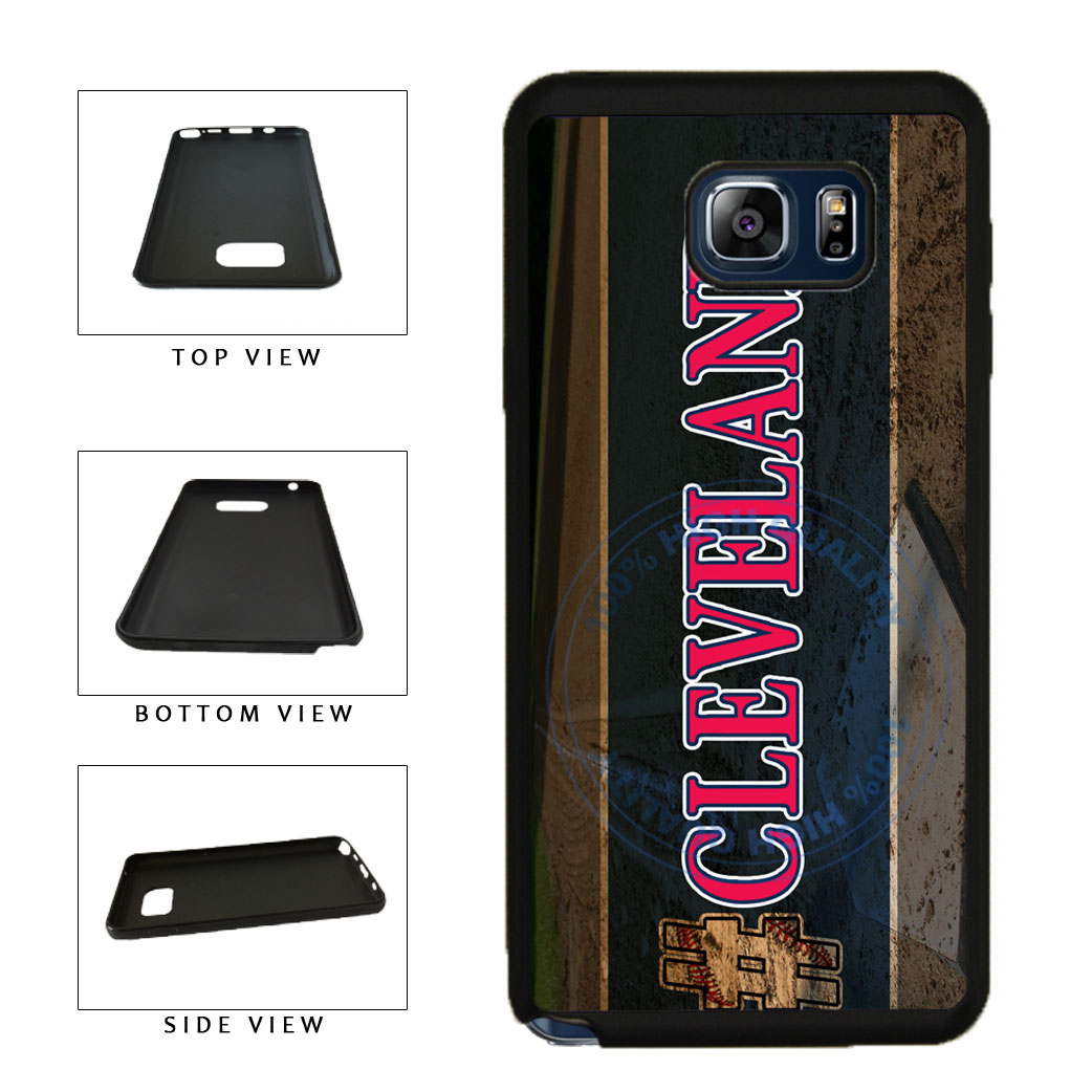 Hashtag Cleveland #Cleveland Baseball Team  TPU RUBBER SILICONE Phone Case Back Cover For Samsung Galaxy Note V 5 N920 includes BleuReign(TM) Cloth and Warranty Label