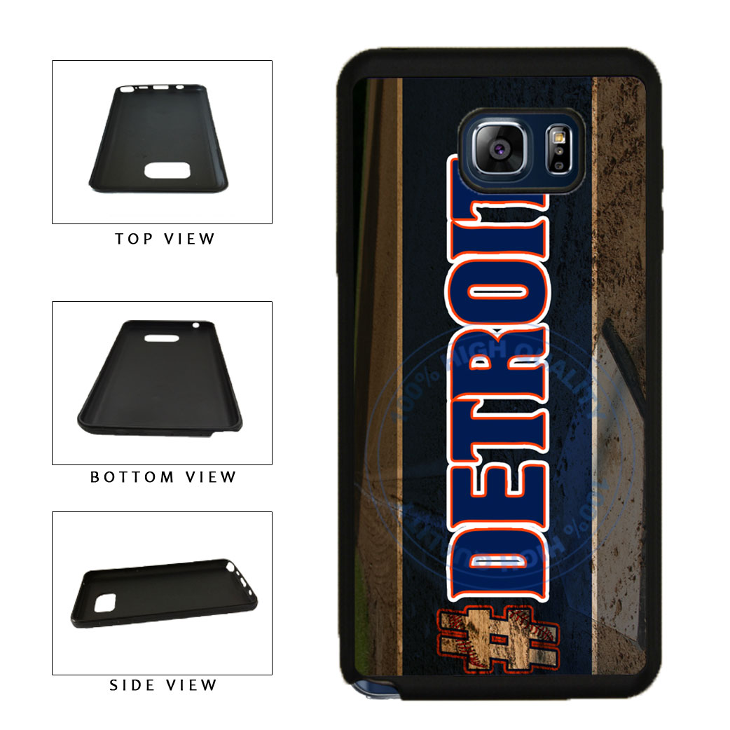 Hashtag Detroit #Detroit Baseball Team  TPU RUBBER SILICONE Phone Case Back Cover For Samsung Galaxy Note V 5 N920 includes BleuReign(TM) Cloth and Warranty Label