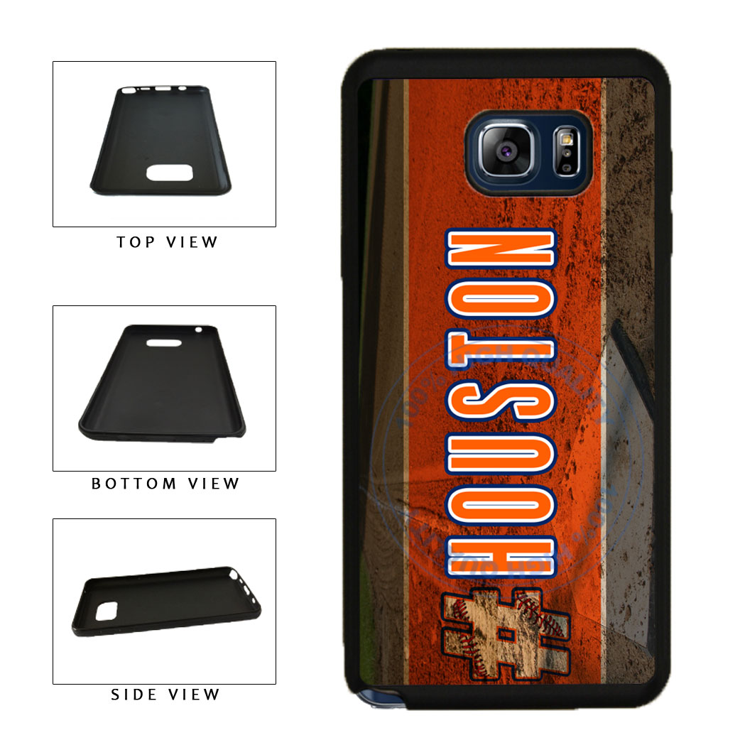 Hashtag Houston #Houston Baseball Team  TPU RUBBER SILICONE Phone Case Back Cover For Samsung Galaxy Note V 5 N920 includes BleuReign(TM) Cloth and Warranty Label