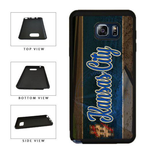 Hashtag Kansas City #KansasCity Baseball Team  TPU RUBBER SILICONE Phone Case Back Cover For Samsung Galaxy Note V 5 N920 includes BleuReign(TM) Cloth and Warranty Label