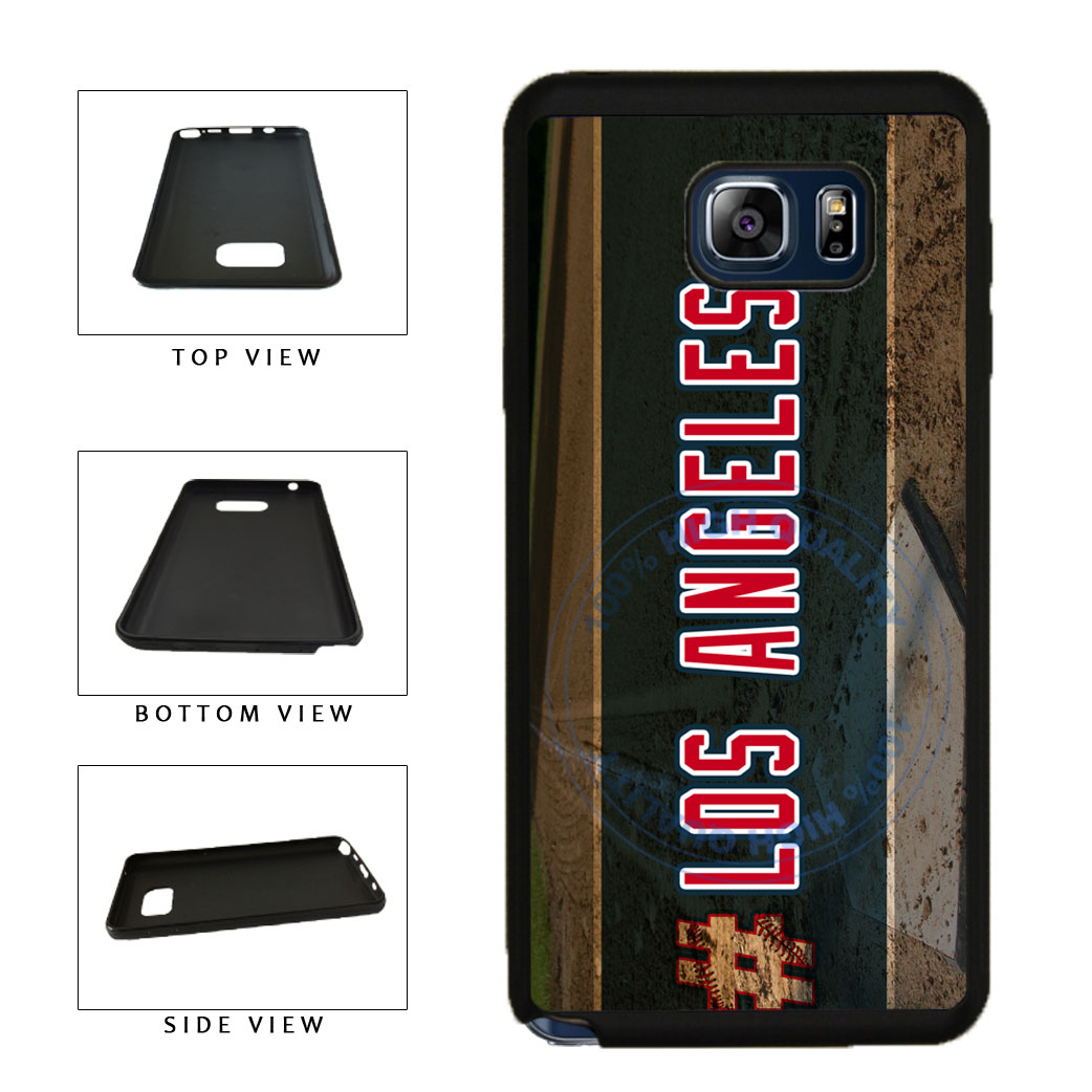 Hashtag Los Angeles #LosAngeles Anaheim Baseball Team TPU RUBBER SILICONE Phone Case Back Cover For Samsung Galaxy Note V 5 N920 includes BleuReign(TM) Cloth and Warranty Label
