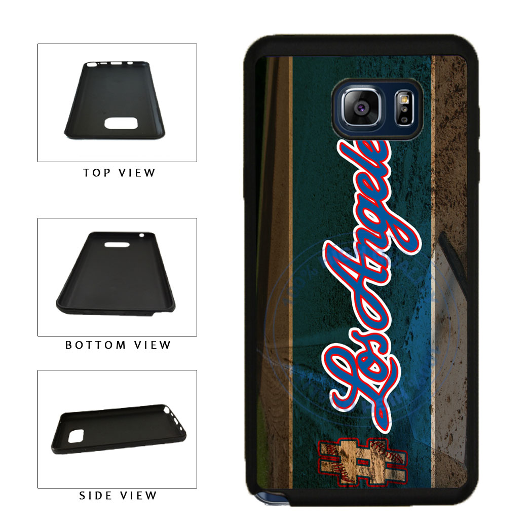 Hashtag Los Angeles #LosAngeles Blue Baseball Team  TPU RUBBER SILICONE Phone Case Back Cover For Samsung Galaxy Note V 5 N920 includes BleuReign(TM) Cloth and Warranty Label