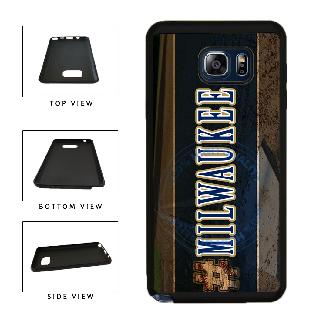 Hashtag Milwaukee #Milwaukee Baseball Team  TPU RUBBER SILICONE Phone Case Back Cover For Samsung Galaxy Note V 5 N920 includes BleuReign(TM) Cloth and Warranty Label