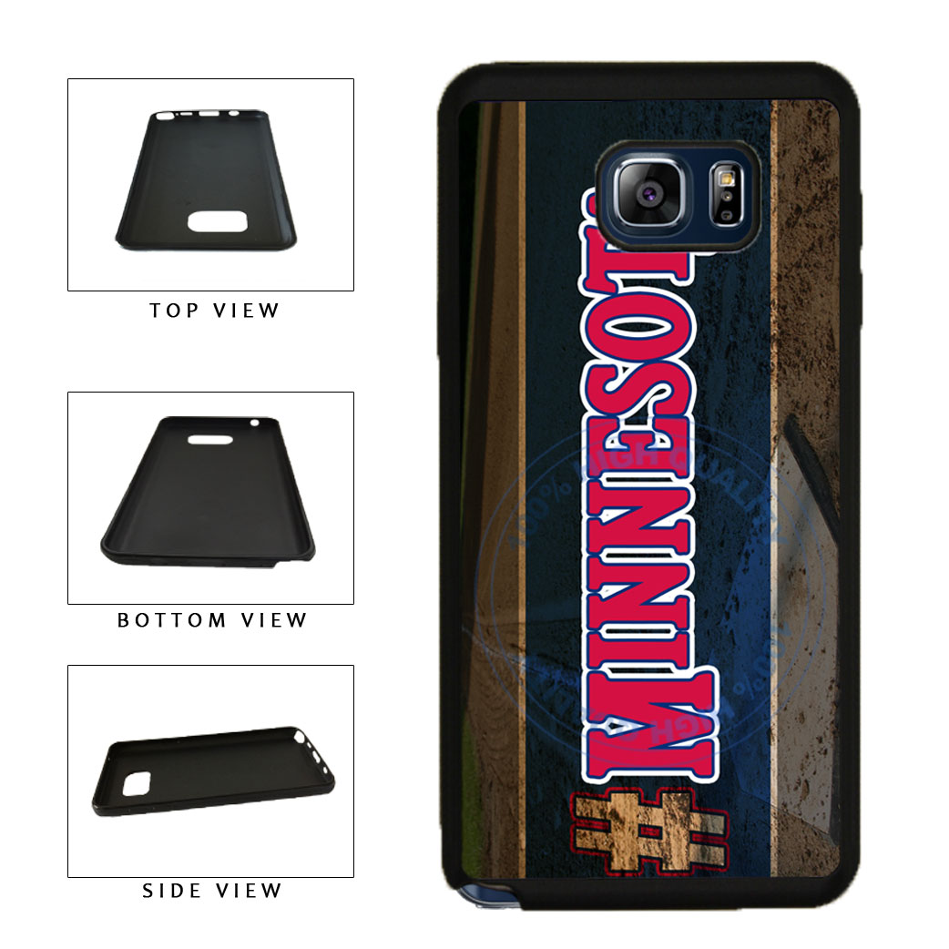Hashtag Minnesota #Minnesota Baseball Team  TPU RUBBER SILICONE Phone Case Back Cover For Samsung Galaxy Note V 5 N920 includes BleuReign(TM) Cloth and Warranty Label