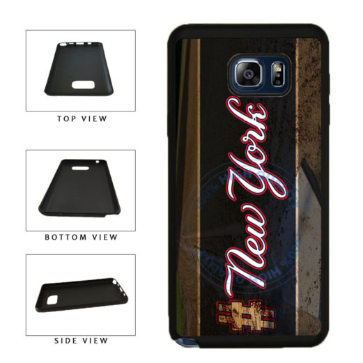 Hashtag New York #NewYork Blue Baseball Team  TPU RUBBER SILICONE Phone Case Back Cover For Samsung Galaxy Note V 5 N920 includes BleuReign(TM) Cloth and Warranty Label