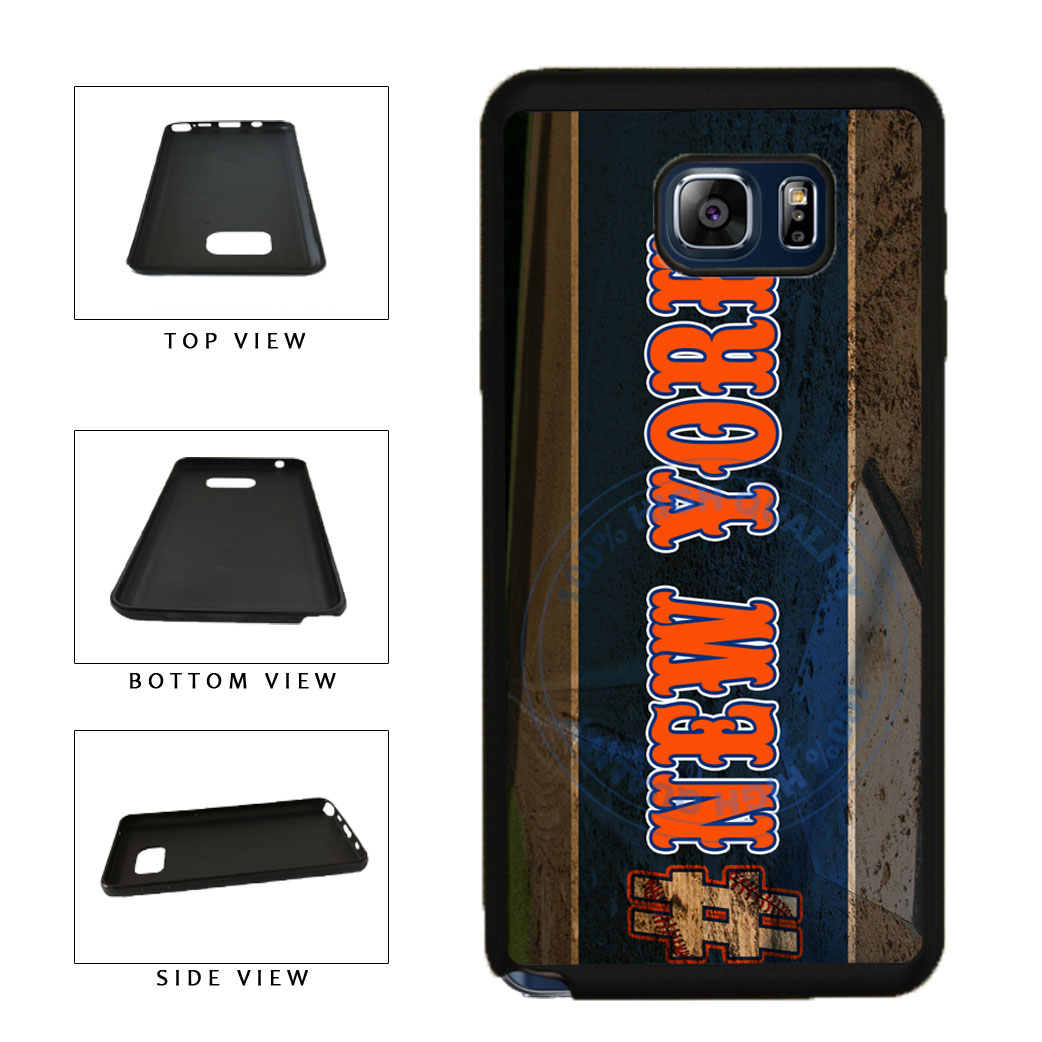 Hashtag New York #NewYork Orange Baseball Team  TPU RUBBER SILICONE Phone Case Back Cover For Samsung Galaxy Note V 5 N920 includes BleuReign(TM) Cloth and Warranty Label