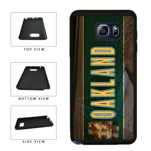 Hashtag Oakland #Oakland Baseball Team  TPU RUBBER SILICONE Phone Case Back Cover For Samsung Galaxy Note V 5 N920 includes BleuReign(TM) Cloth and Warranty Label