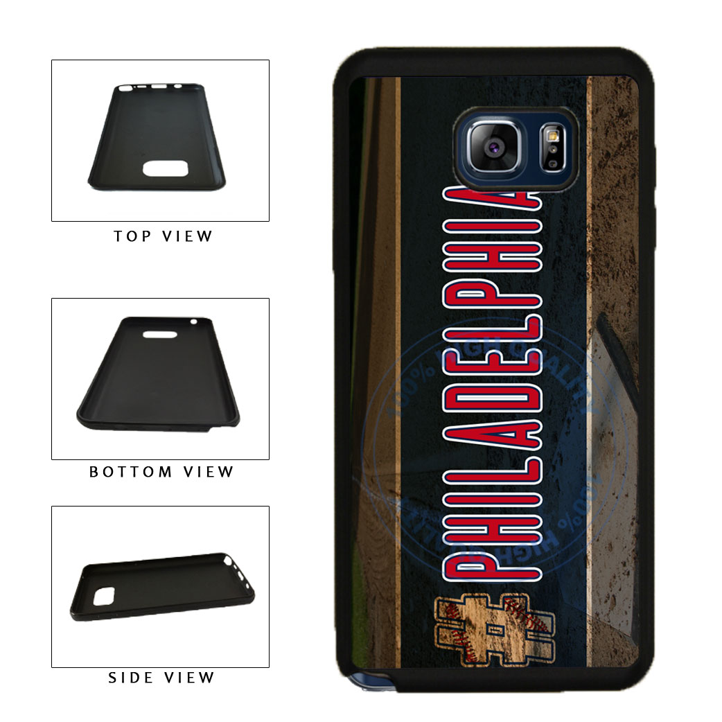 Hashtag Philadelphia #Philadelphia Baseball Team  TPU RUBBER SILICONE Phone Case Back Cover For Samsung Galaxy Note V 5 N920 includes BleuReign(TM) Cloth and Warranty Label