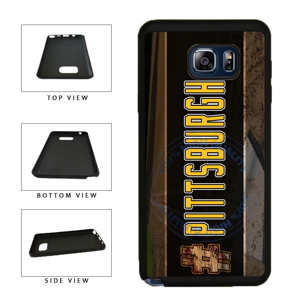 Hashtag Pittsburgh #Pittsburgh Baseball Team  TPU RUBBER SILICONE Phone Case Back Cover For Samsung Galaxy Note V 5 N920 includes BleuReign(TM) Cloth and Warranty Label