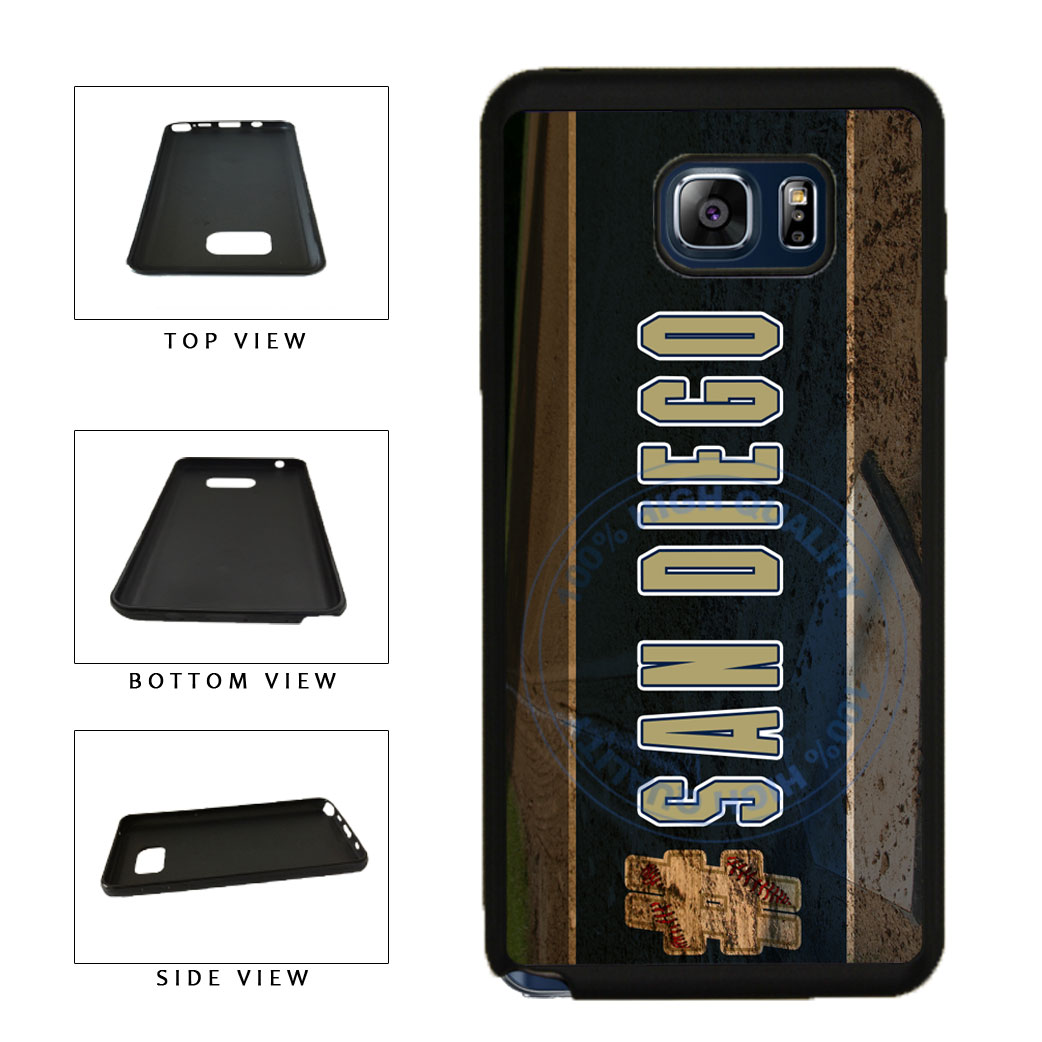 Hashtag San Diego #SanDiego Baseball Team  TPU RUBBER SILICONE Phone Case Back Cover For Samsung Galaxy Note V 5 N920 includes BleuReign(TM) Cloth and Warranty Label