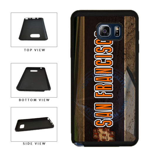 Hashtag San Francisco #SanFrancisco Baseball Team  TPU RUBBER SILICONE Phone Case Back Cover For Samsung Galaxy Note V 5 N920 includes BleuReign(TM) Cloth and Warranty Label